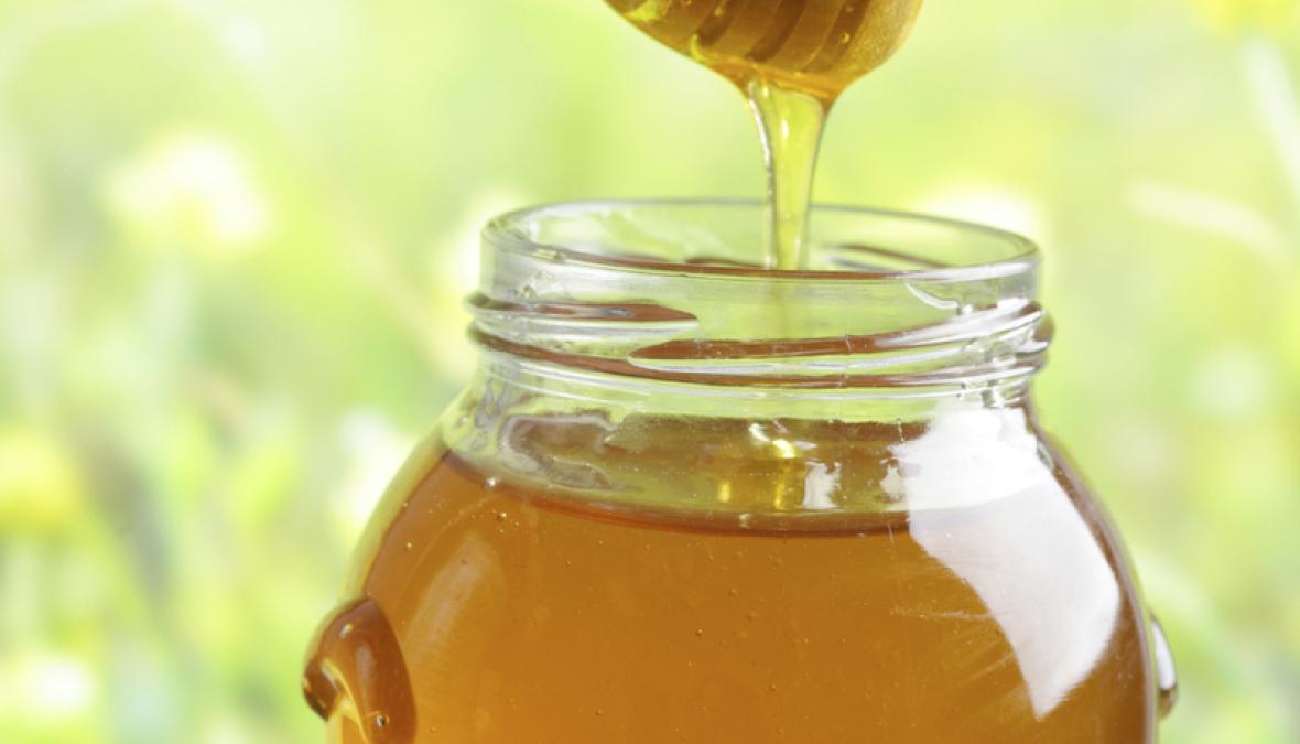 ein Glas Honig